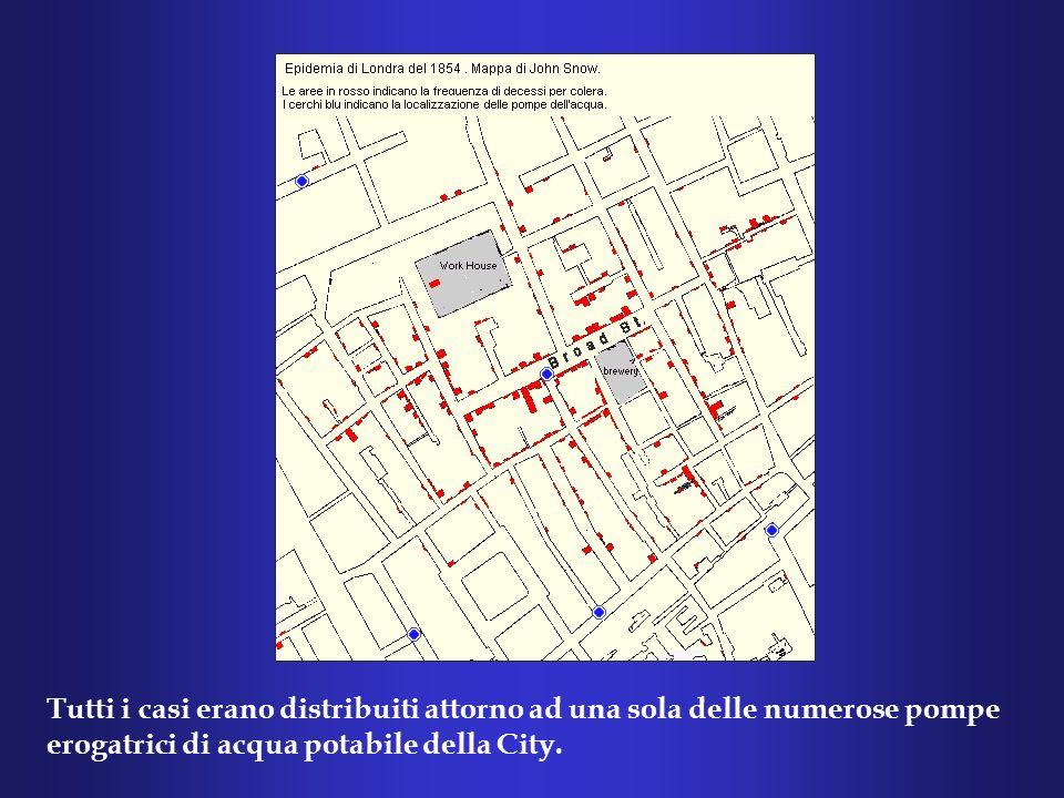 A quei tempi le forniture idriche della città erano affidate a due compagnie, la Southwark & Vauxhall e la Lambeth.