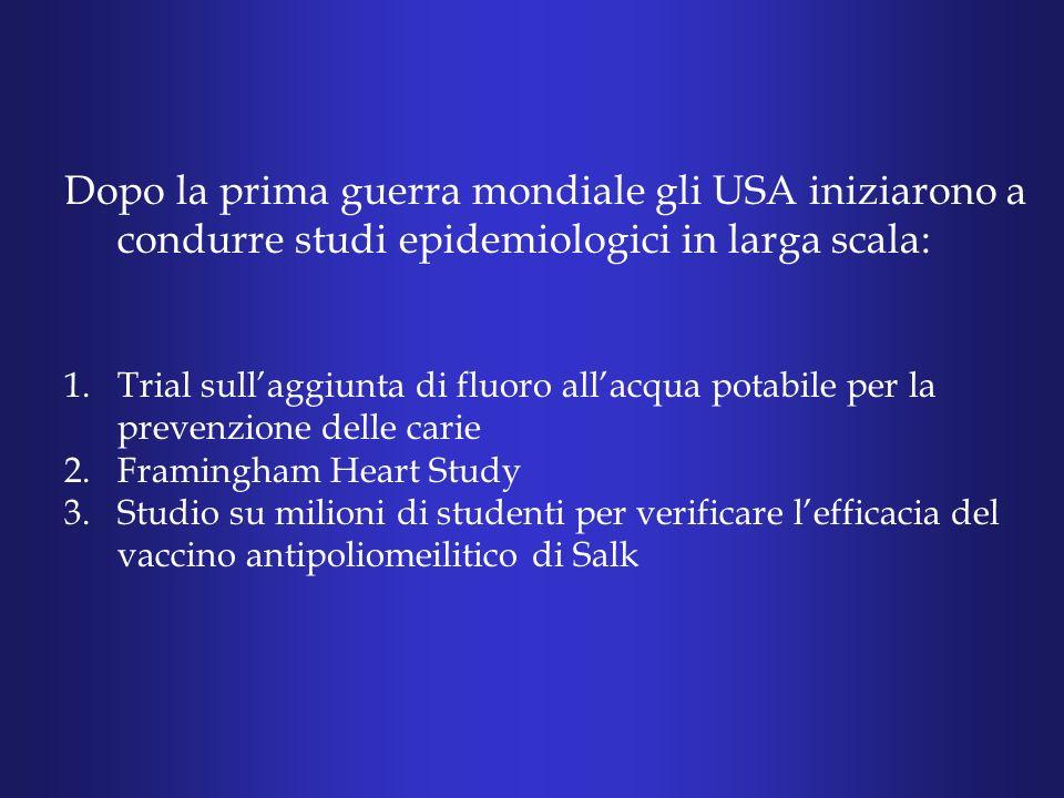Lepidemiologia è il metodo più semplice e diretto per studiare la causa delle malattie nelluomo.