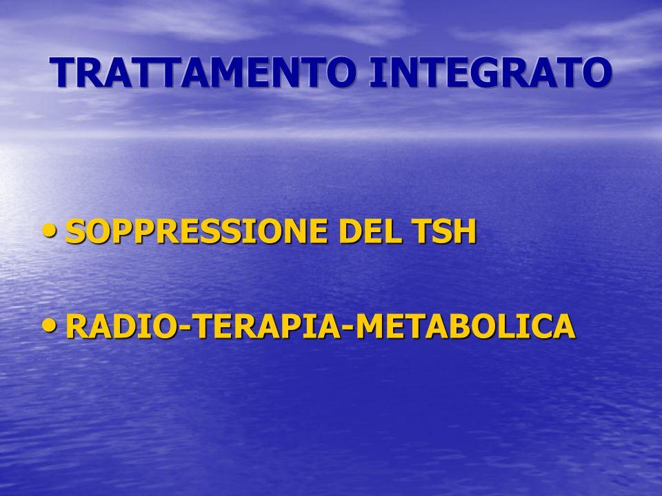 SOPPRESSIONE DEL TSH SOPPRESSIONE DEL TSH RADIO-TERAPIA-METABOLICA RADIO-TERAPIA-METABOLICA
