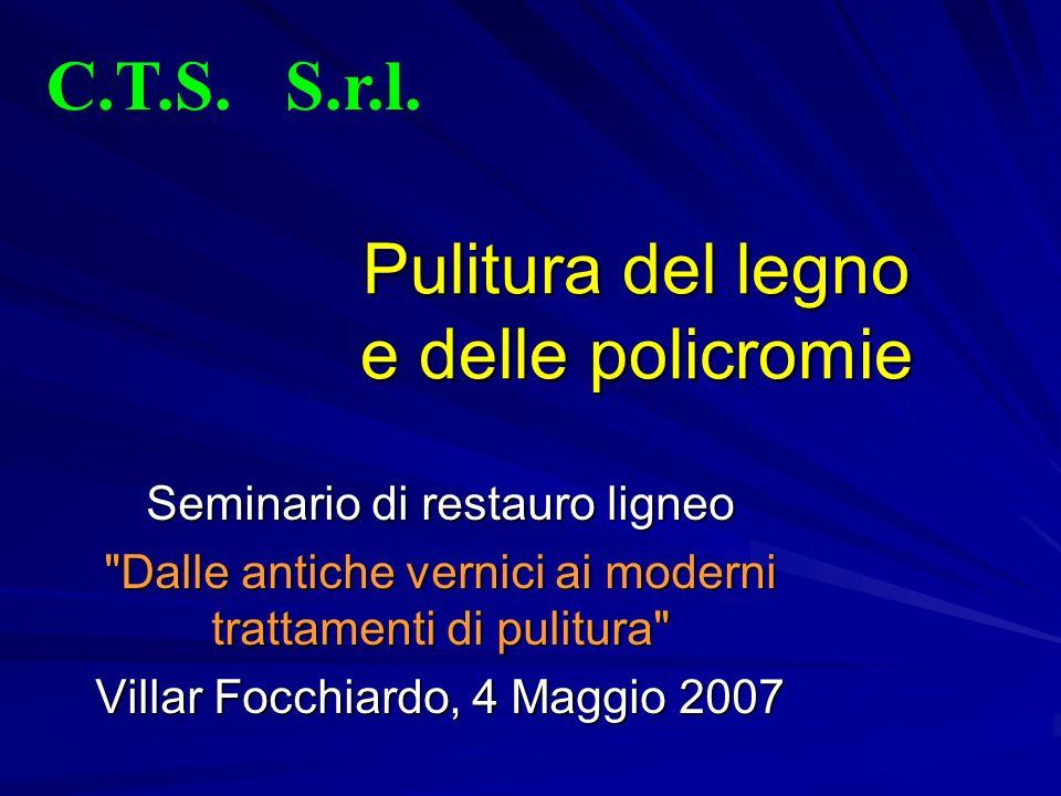 Nuovi approcci alla pulitura Paolo Cremonesi e Richard Wolbers