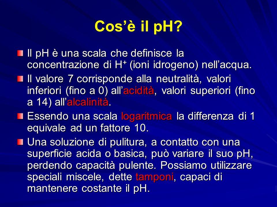 Cosè il pH? Il pH è una scala che definisce la concentrazione di H + (ioni idrogeno) nellacqua. Il valore 7 corrisponde alla neutralità, valori inferi