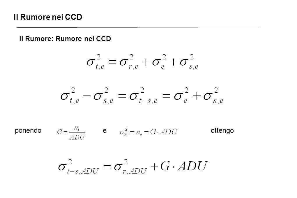 Il Rumore nei CCD Il Rumore: Rumore nei CCD ponendoeottengo