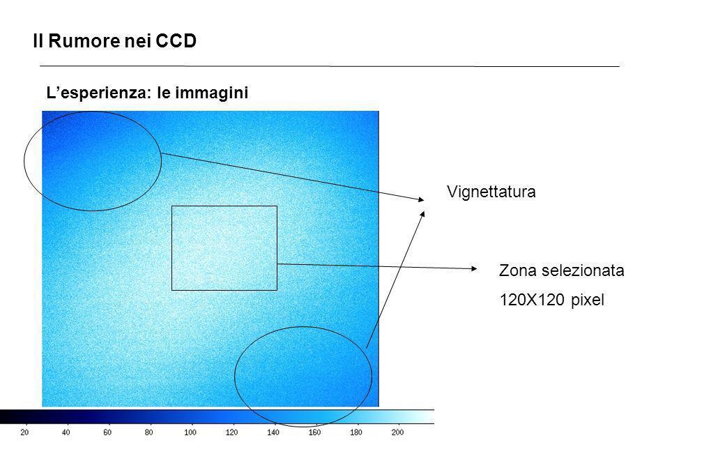 Il Rumore nei CCD Lesperienza: le immagini Vignettatura Zona selezionata 120X120 pixel