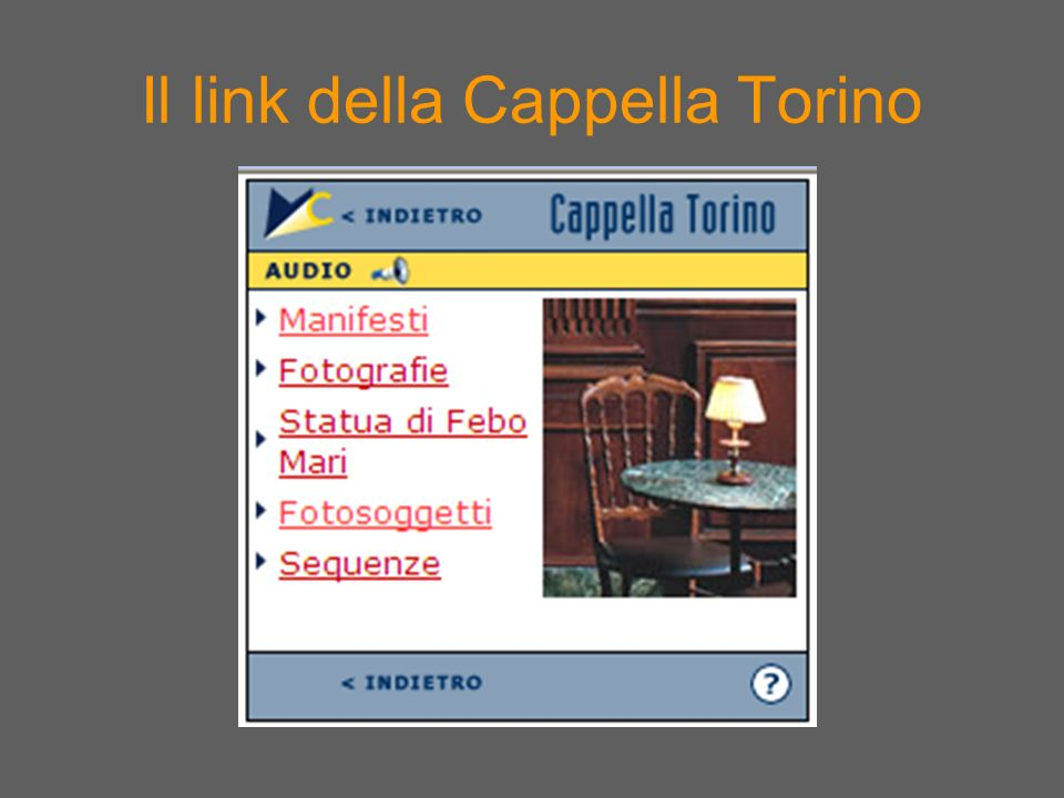 Il link della Cappella Torino
