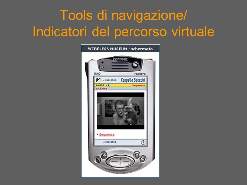 Tools di navigazione/ Indicatori del percorso virtuale