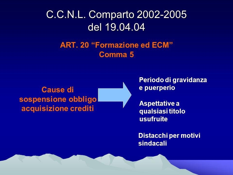 C.C.N.L. Comparto 2002-2005 del 19.04.04 ART.