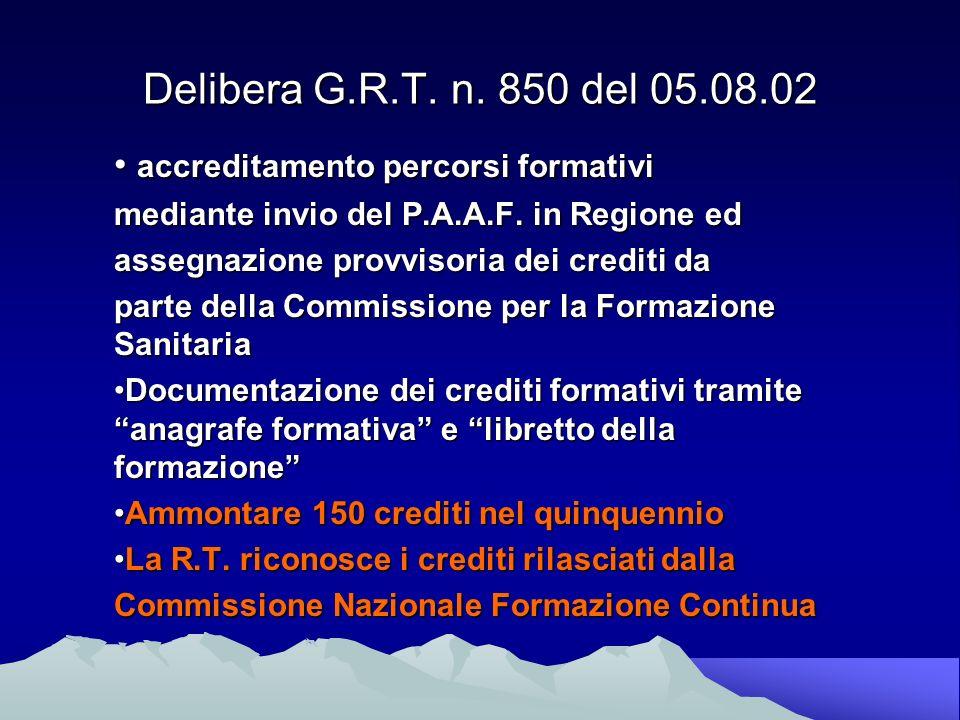 Delibera G.R.T. n.