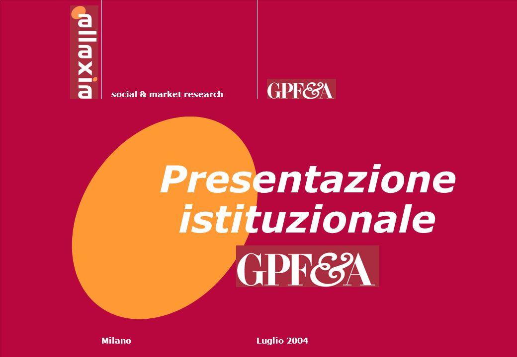 Social & Market Research1 © MilanoLuglio 2004 social & market research Presentazione istituzionale
