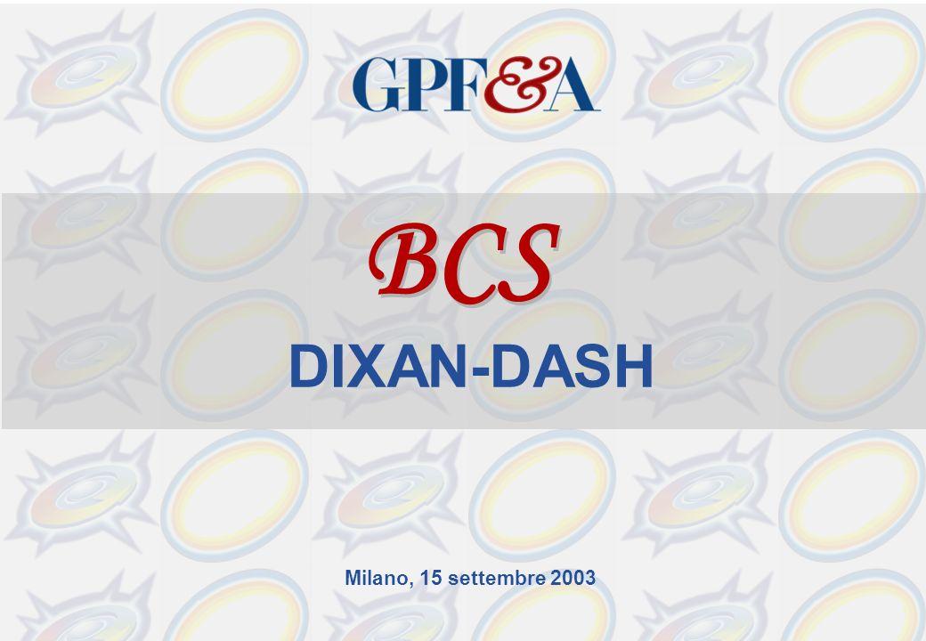 Milano, 15 settembre 2003 BCS DIXAN-DASH