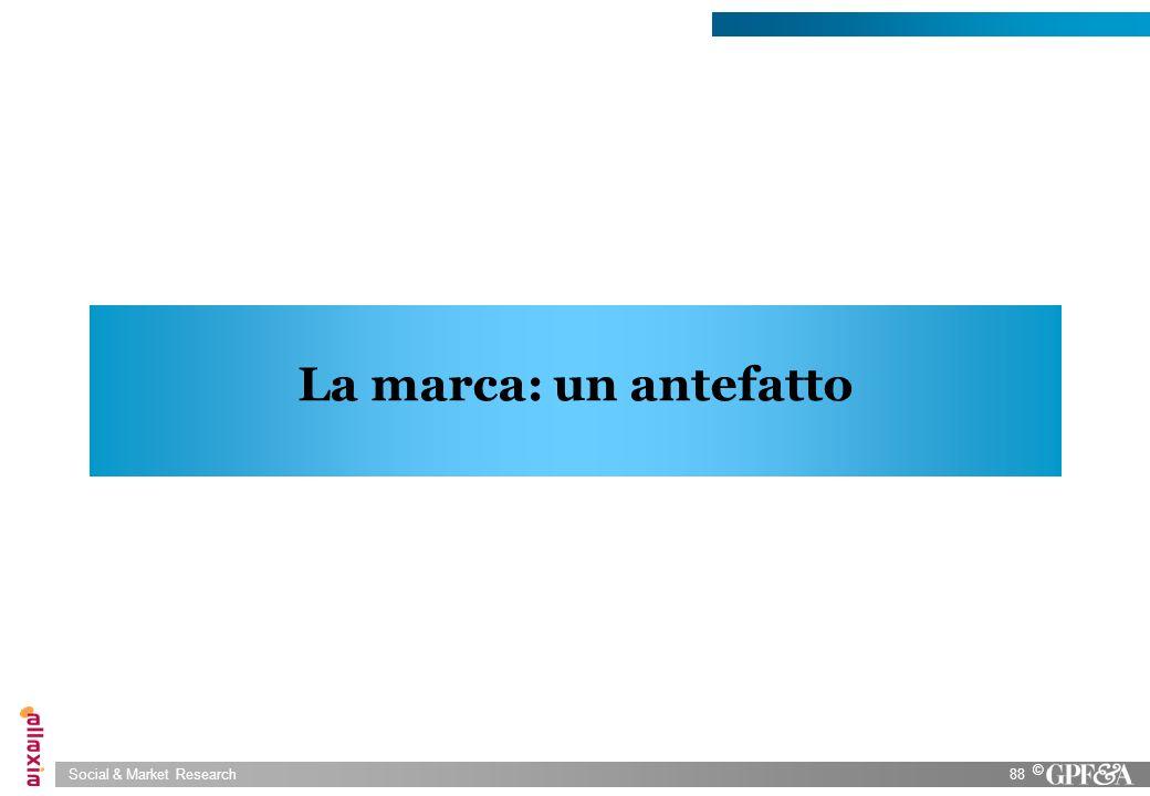 Social & Market Research88 © La marca: un antefatto