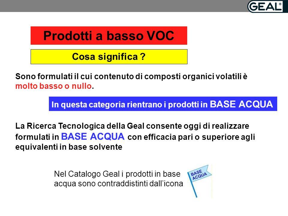 Prodotti a basso VOC Cosa significa .