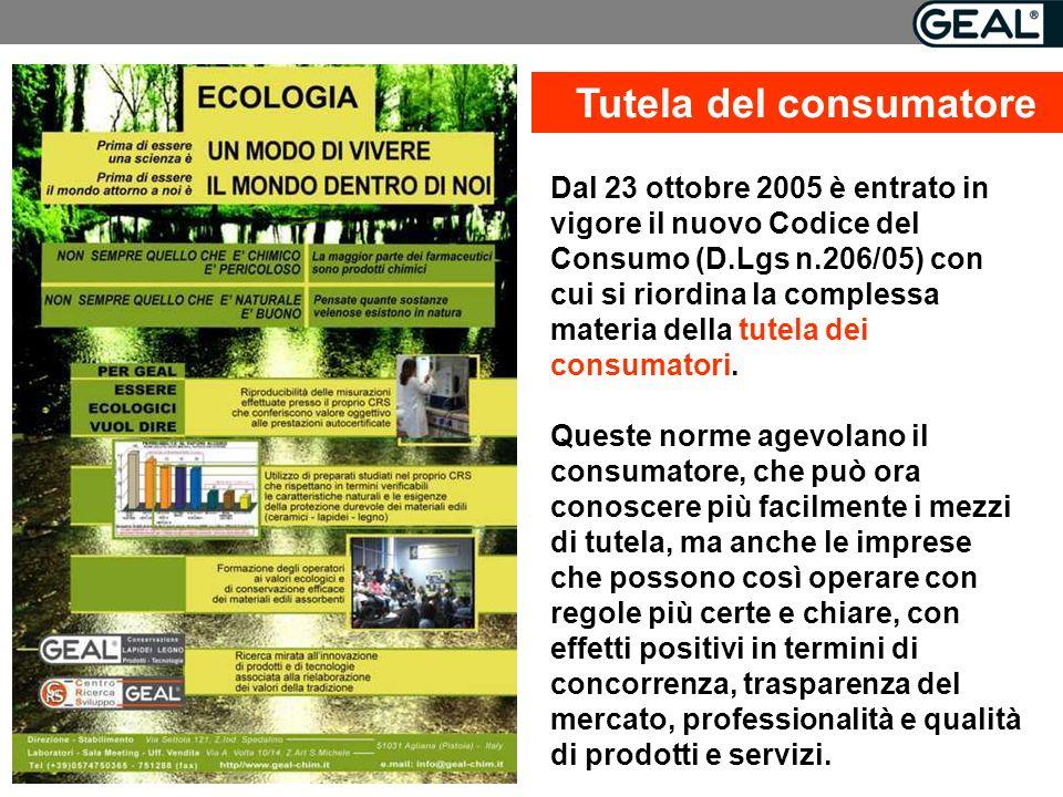 Dal 23 ottobre 2005 è entrato in vigore il nuovo Codice del Consumo (D.Lgs n.206/05) con cui si riordina la complessa materia della tutela dei consumatori.