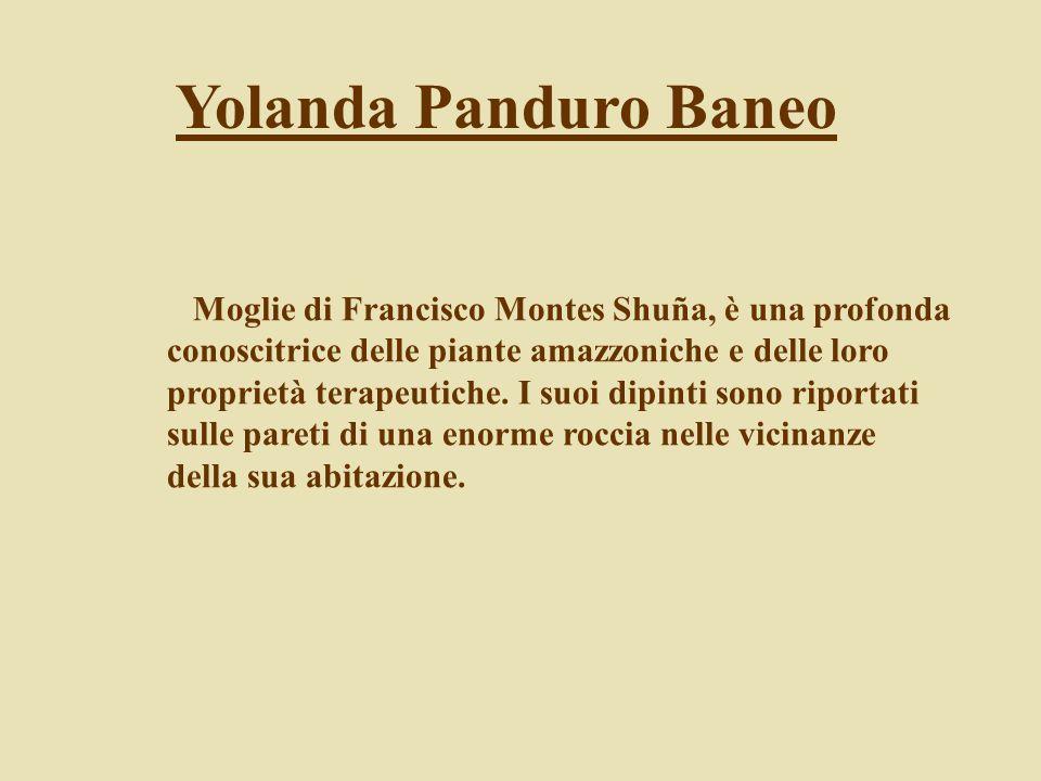 Yolanda Panduro Baneo Moglie di Francisco Montes Shuña, è una profonda conoscitrice delle piante amazzoniche e delle loro proprietà terapeutiche. I su