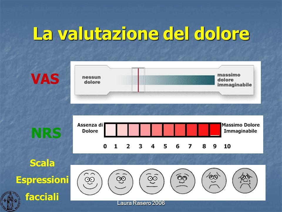 Laura Rasero 2006 La valutazione del dolore VAS NRS Scala Espressioni facciali