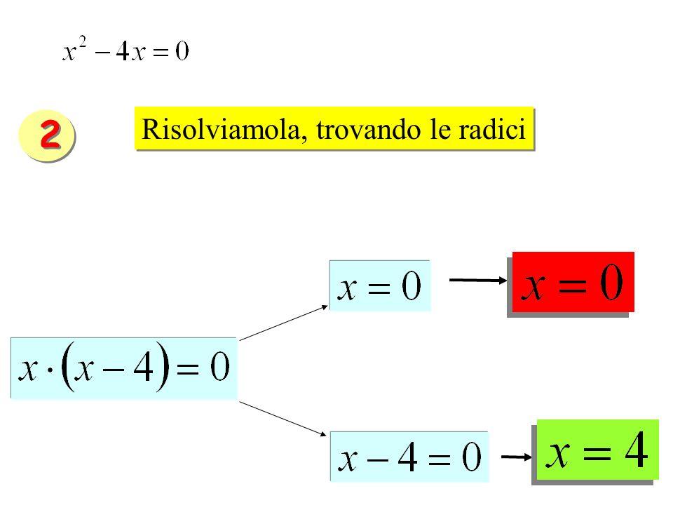 Risolviamola, trovando le radici 2 2