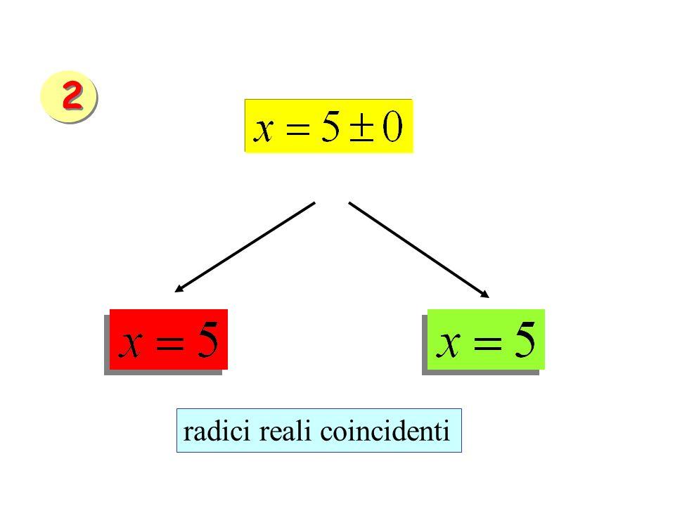 radici reali coincidenti 2 2