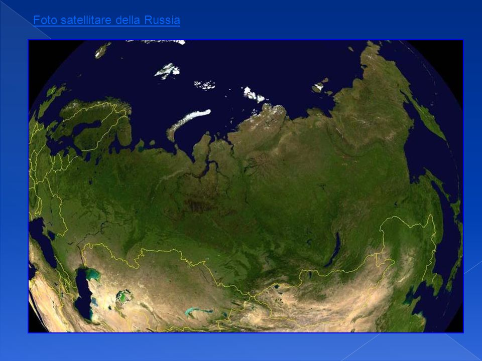 Foto satellitare della Russia