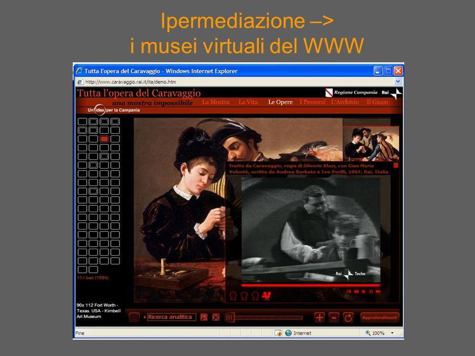 Ipermediazione –> i musei virtuali del WWW