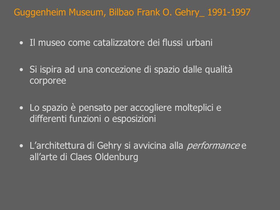 Il museo come catalizzatore dei flussi urbani Si ispira ad una concezione di spazio dalle qualità corporee Lo spazio è pensato per accogliere moltepli