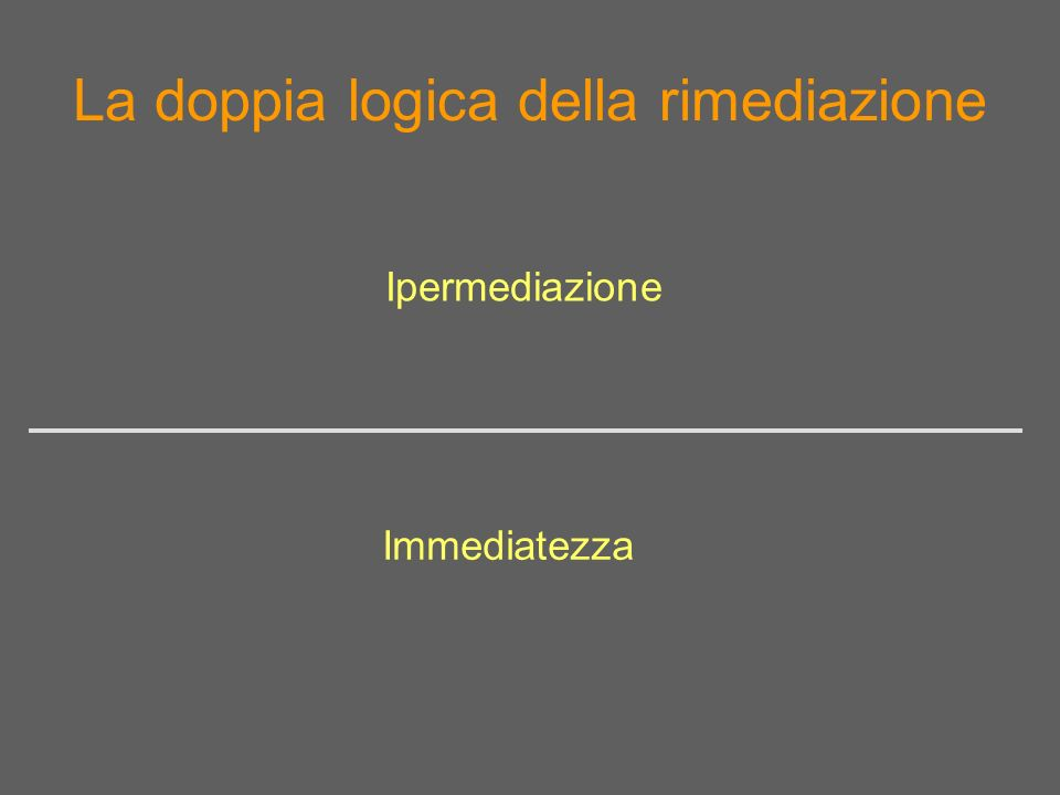 Immediatezza –> sistemi di VR immersivi (Archave, Brown University)