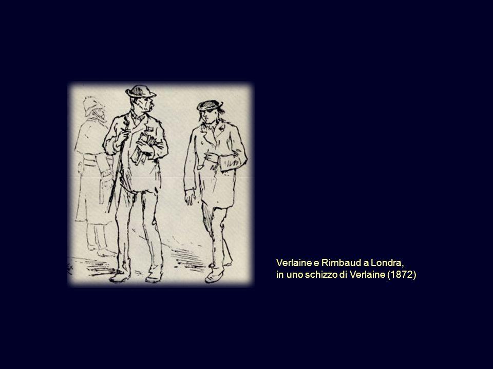 Verlaine e Rimbaud a Londra, in uno schizzo di Verlaine (1872)