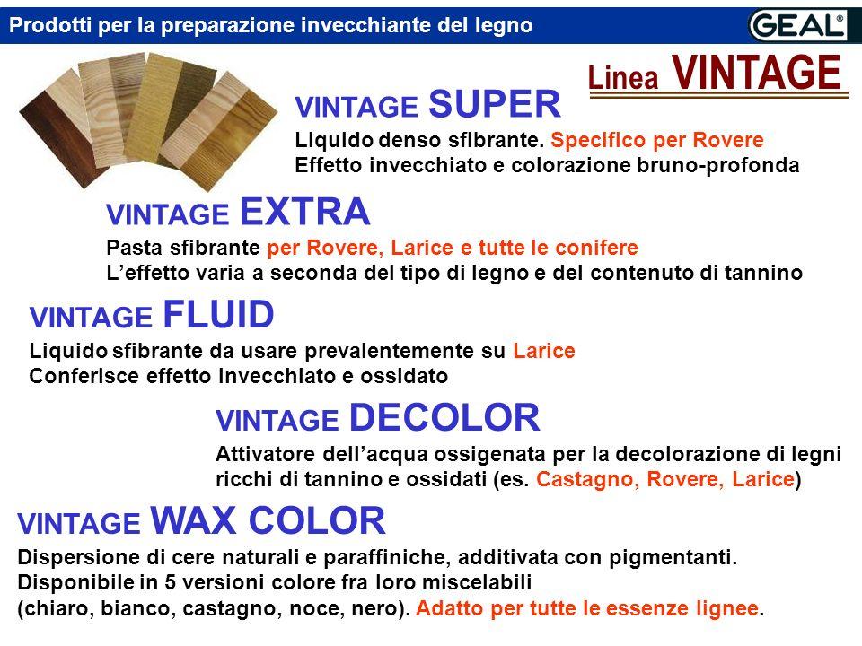 Prodotti per la preparazione invecchiante del legno Linea VINTAGE VINTAGE SUPER Liquido denso sfibrante.