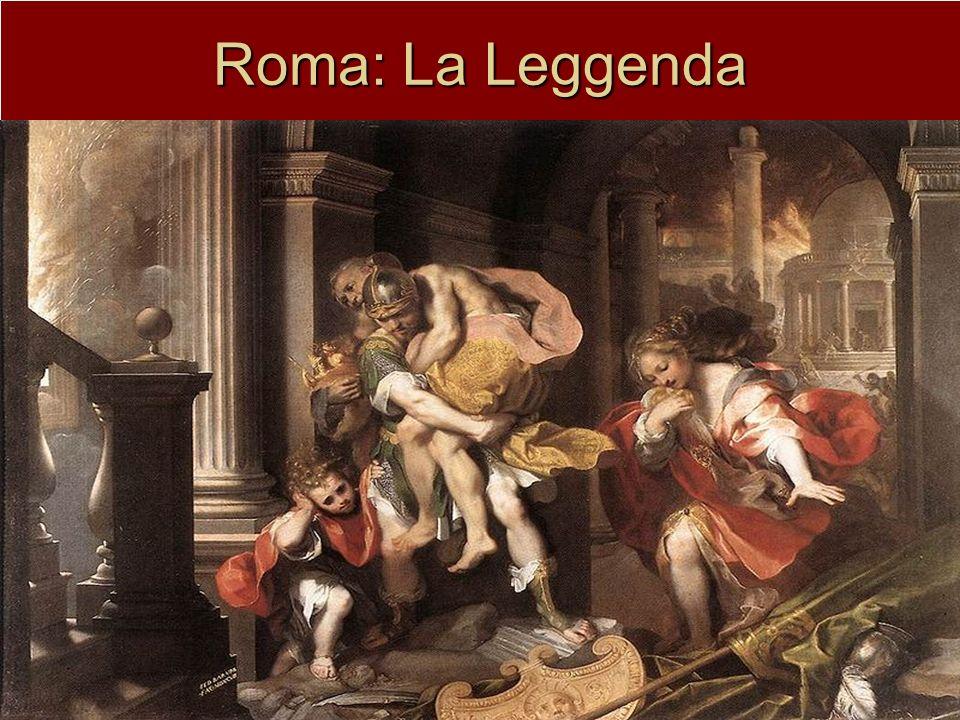 Roma: La Leggenda I Gemelli Romolo e Remo (discendenti del troiano Enea) figli di Marte e Rea Silvia allevati da una lupa il 21 aprile del 735 a.C.