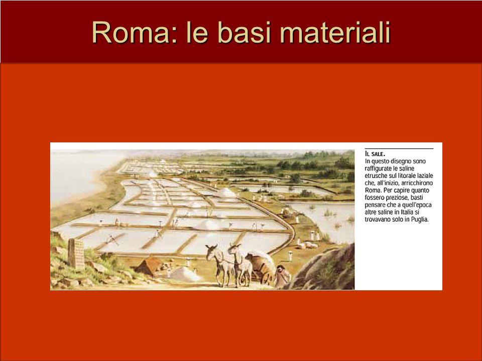 Roma: le basi materiali posizione interna ben difesa dal fiume, le alture (i 7 colli)posizione interna ben difesa dal fiume, le alture (i 7 colli) nod