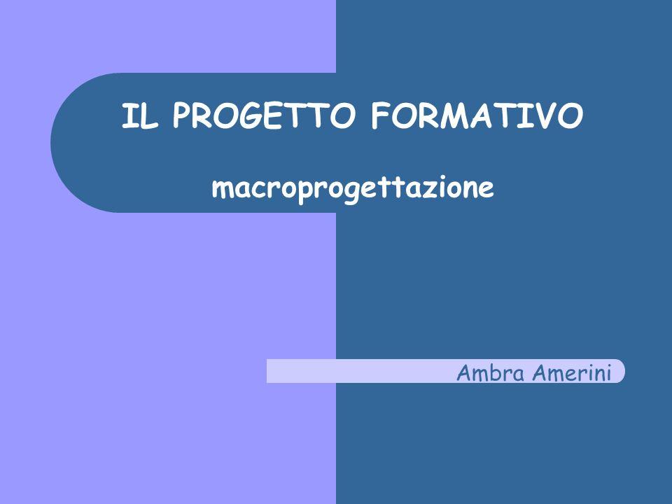 Patto daula Il processo formativo: le fasi Il contratto formativo Insegnamento/apprendimento Macro-progettazione Gli obiettivi