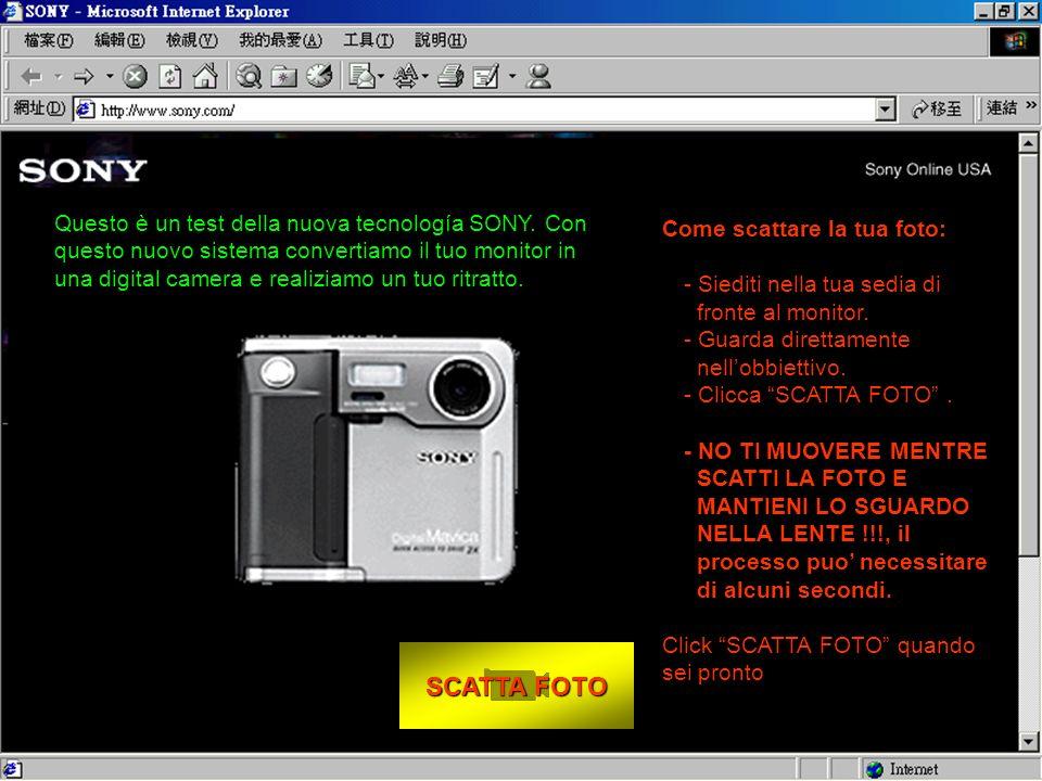 SCATTA FOTO SCATTA FOTO Come scattare la tua foto: - Siediti nella tua sedia di fronte al monitor.