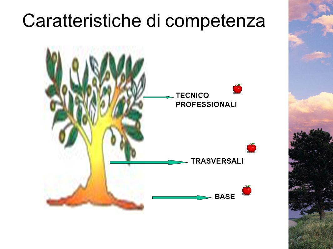 Caratteristiche di competenza BASE TRASVERSALI TECNICO PROFESSIONALI