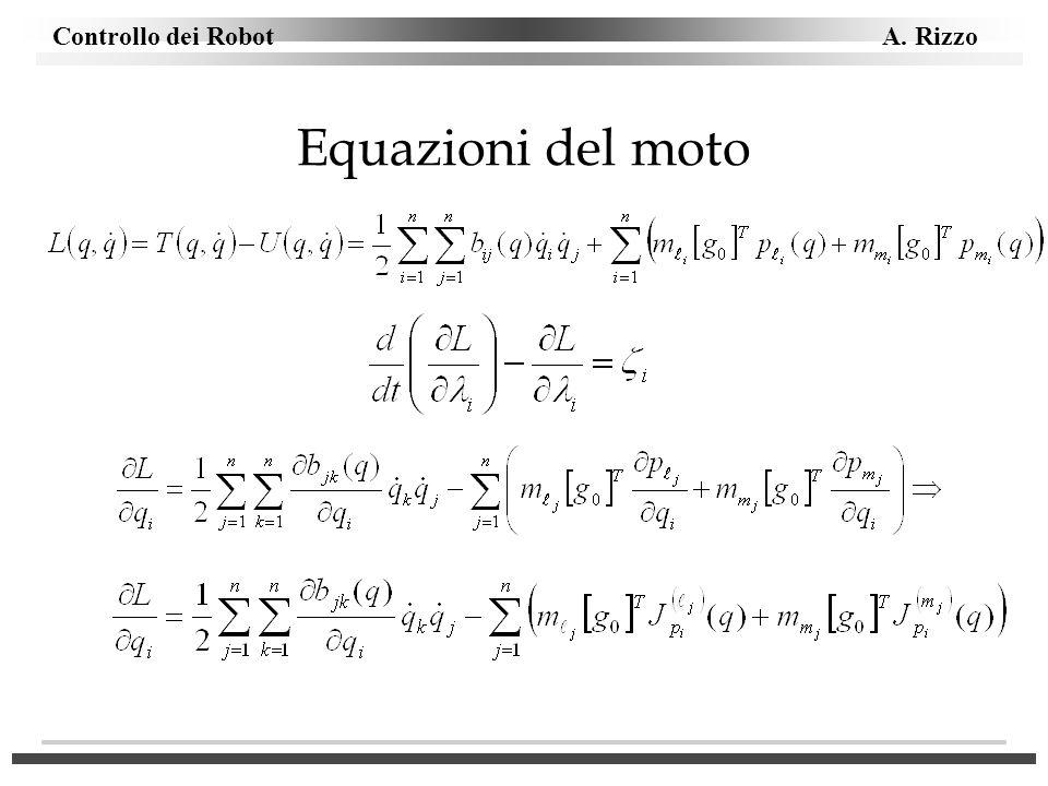 Controllo dei Robot A. Rizzo Equazioni del moto