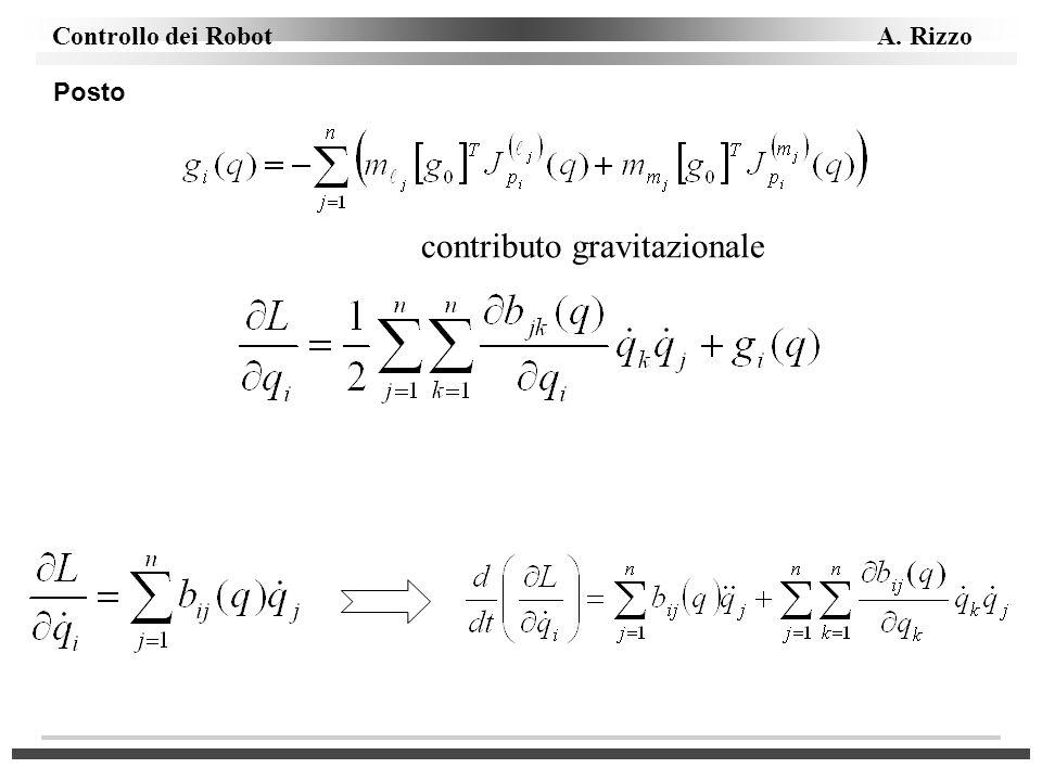 Controllo dei Robot A. Rizzo contributo gravitazionale Posto