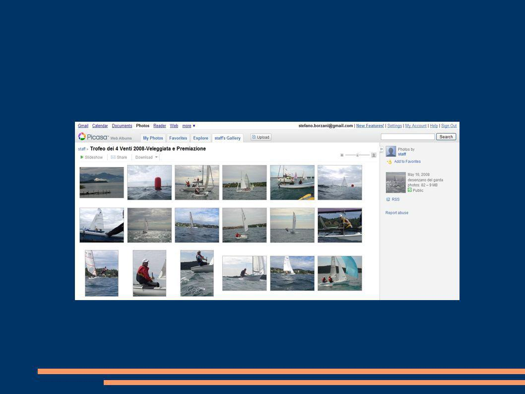 Multimedia Il Foto-Album : per coerenza con lo strumento Blog non poteva mancare un Foto-Album dedicato. All'indirizzo www.picasaweb.google.it/trofeod