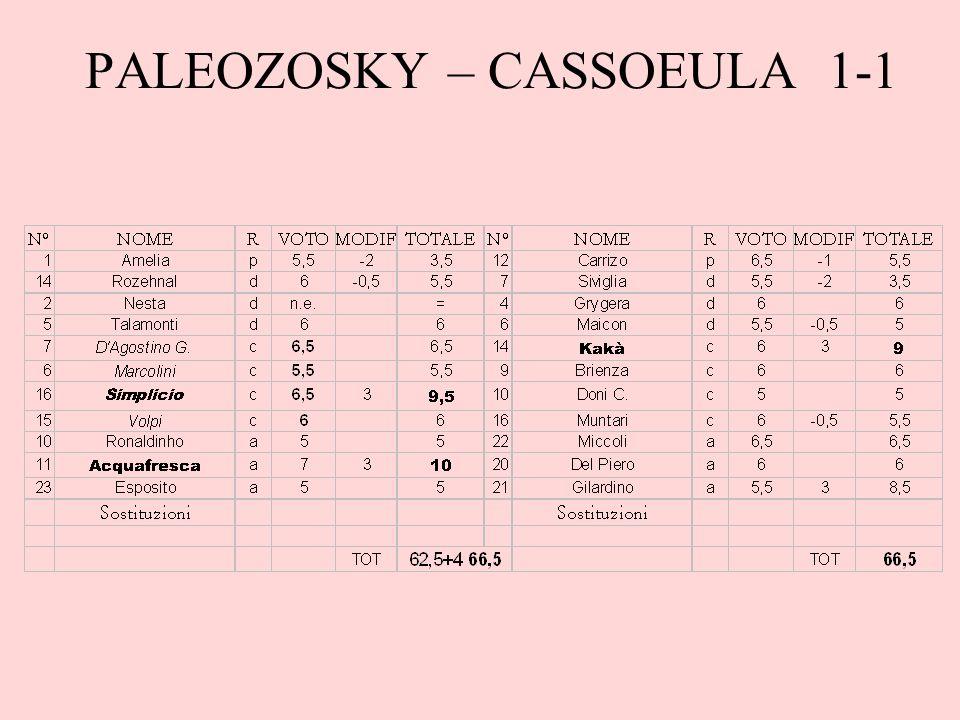 PALEOZOSKY – CASSOEULA 1-1