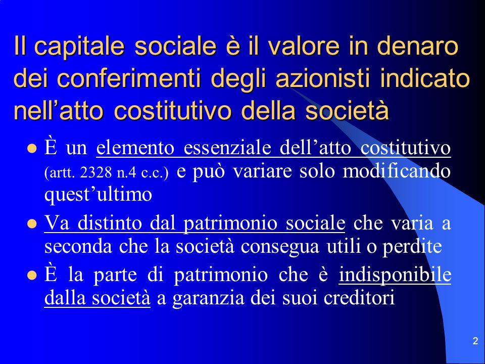 1 L'aumento del capitale sociale nelle S.P.A. Profili giuridici e tecnico-contabili