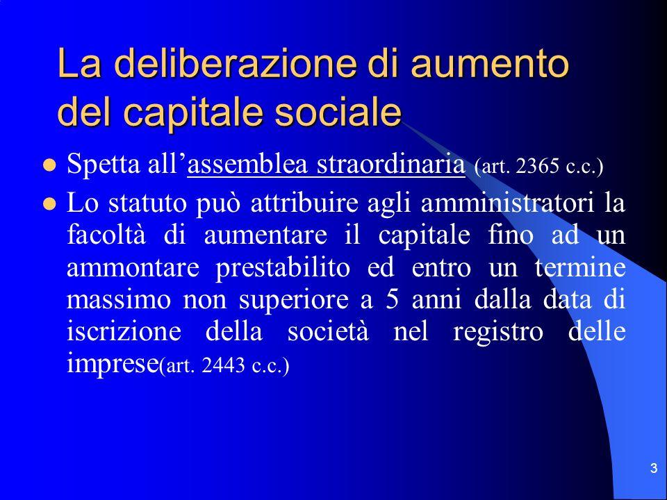 2 Il capitale sociale è il valore in denaro dei conferimenti degli azionisti indicato nellatto costitutivo della società È un elemento essenziale dell