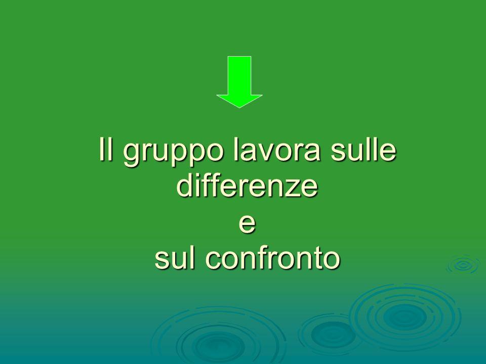 Il gruppo lavora sulle differenze e sul confronto