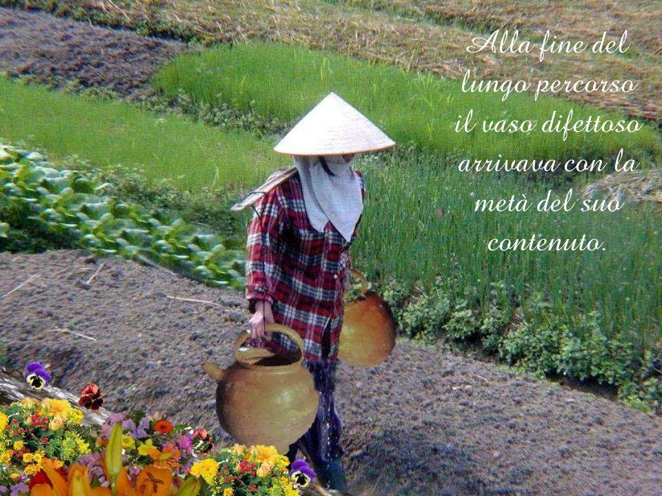 Uno dei vasi aveva una crepa, mentre laltro era perfetto e consegnava sempre tutto il suo contenuto di acqua.