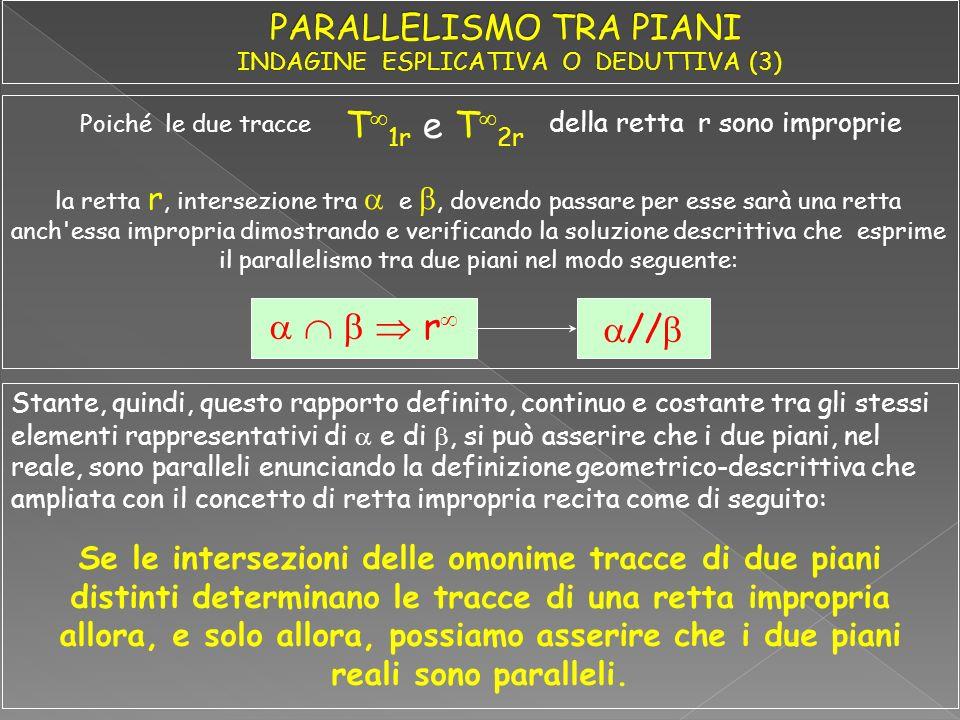 r // Stante, quindi, questo rapporto definito, continuo e costante tra gli stessi elementi rappresentativi di e di, si può asserire che i due piani, n