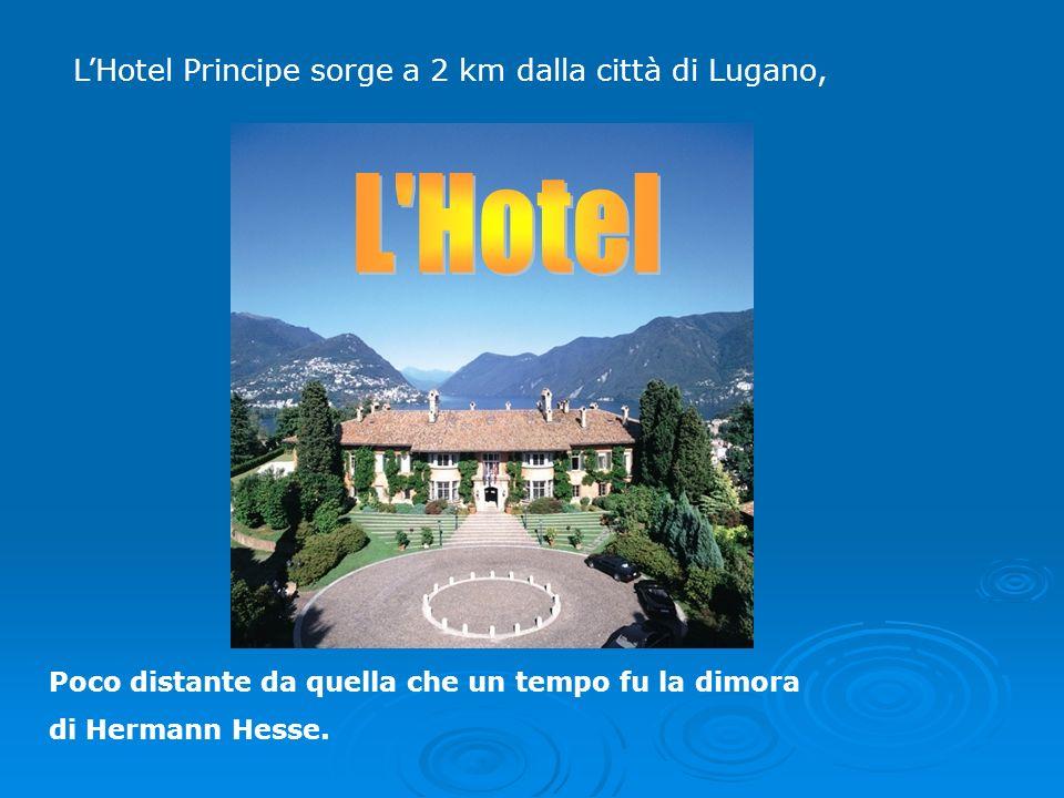 LHotel Principe sorge a 2 km dalla città di Lugano, Poco distante da quella che un tempo fu la dimora di Hermann Hesse.