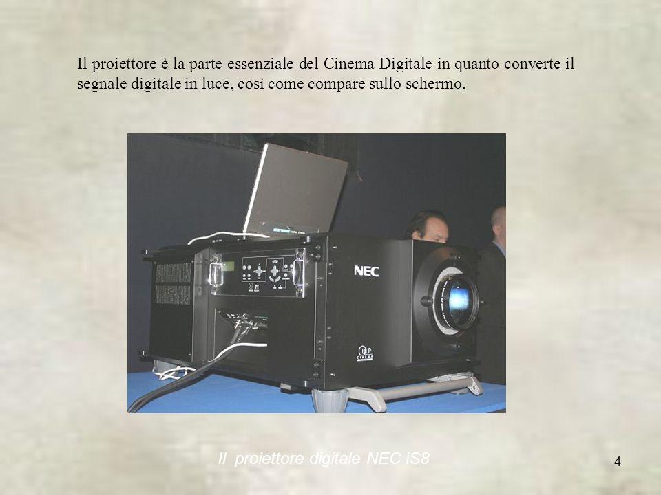 4 Il proiettore è la parte essenziale del Cinema Digitale in quanto converte il segnale digitale in luce, così come compare sullo schermo.