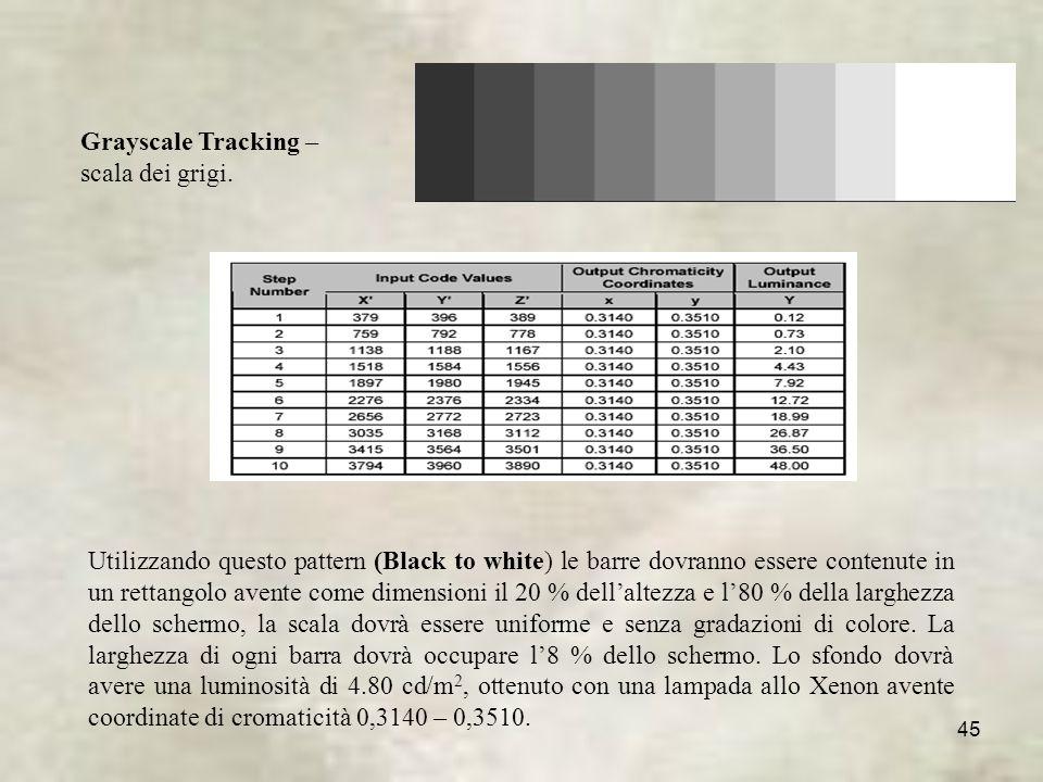 45 Grayscale Tracking – scala dei grigi.