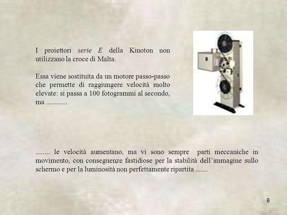 6 I proiettori serie E della Kinoton non utilizzano la croce di Malta.