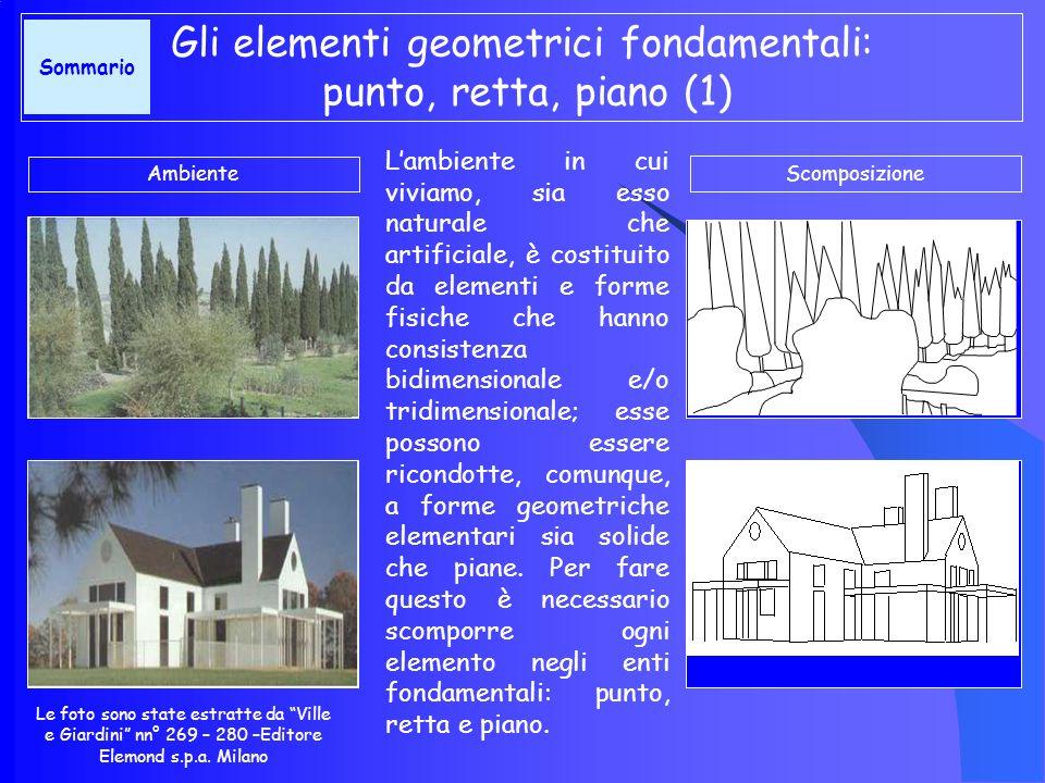 Lambiente in cui viviamo, sia esso naturale che artificiale, è costituito da elementi e forme fisiche che hanno consistenza bidimensionale e/o tridimensionale; esse possono essere ricondotte, comunque, a forme geometriche elementari sia solide che piane.
