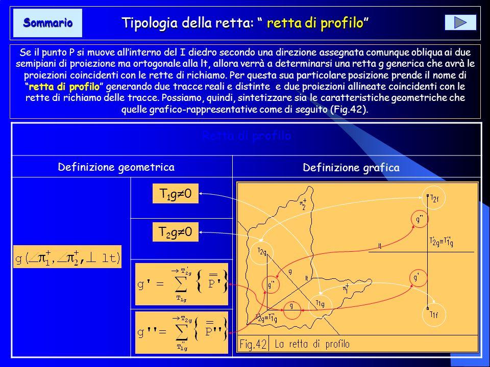 Tipologia della retta :retta parallela ai piani di proiezione Tipologia della retta :retta parallela ai piani di proiezione Se il punto P muovendosi a
