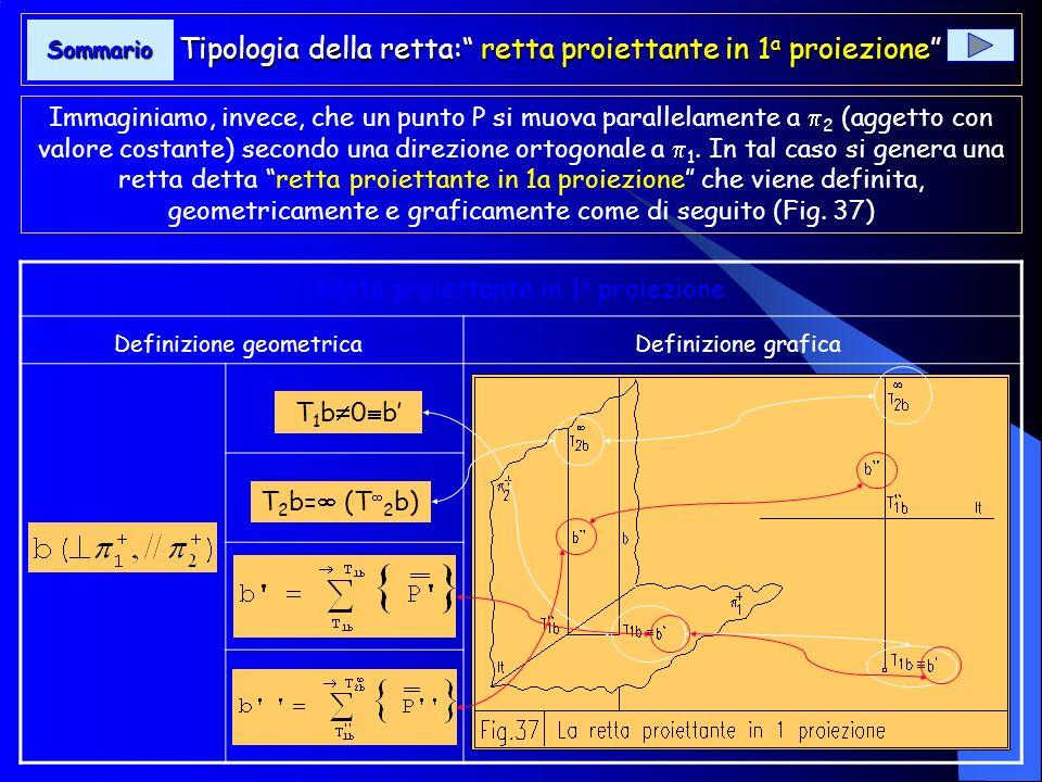 La retta utilizzata, nelle pagine precedenti, per definirne gli elementi rappresentativi è detta retta generica in quanto è collocata nello spazio del