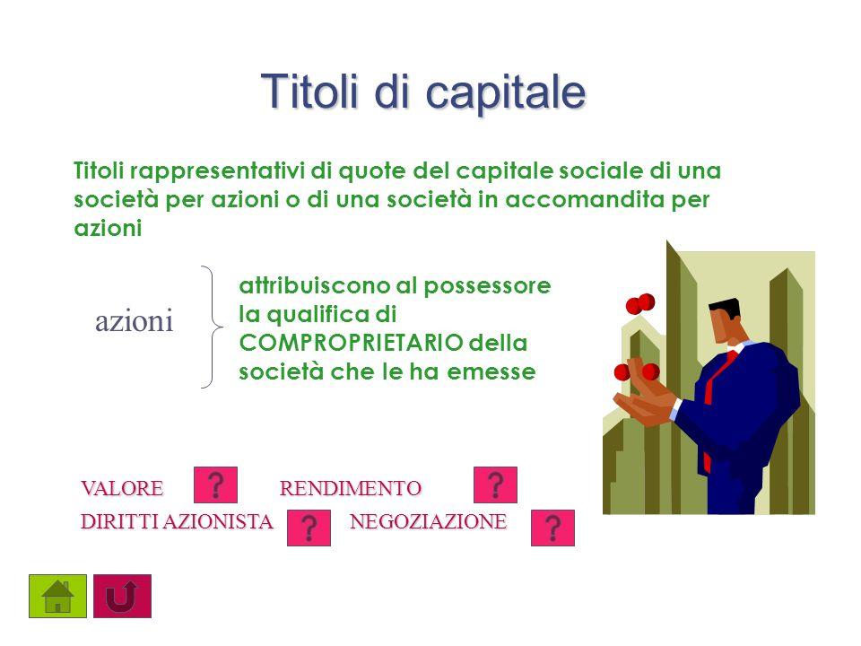Titoli di capitale Titoli rappresentativi di quote del capitale sociale di una società per azioni o di una società in accomandita per azioni azioni at