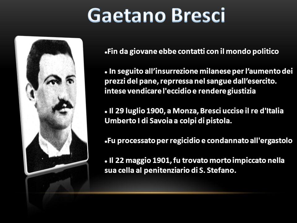 Fin da giovane ebbe contatti con il mondo politico In seguito allinsurrezione milanese per laumento dei prezzi del pane, reprressa nel sangue dalleser