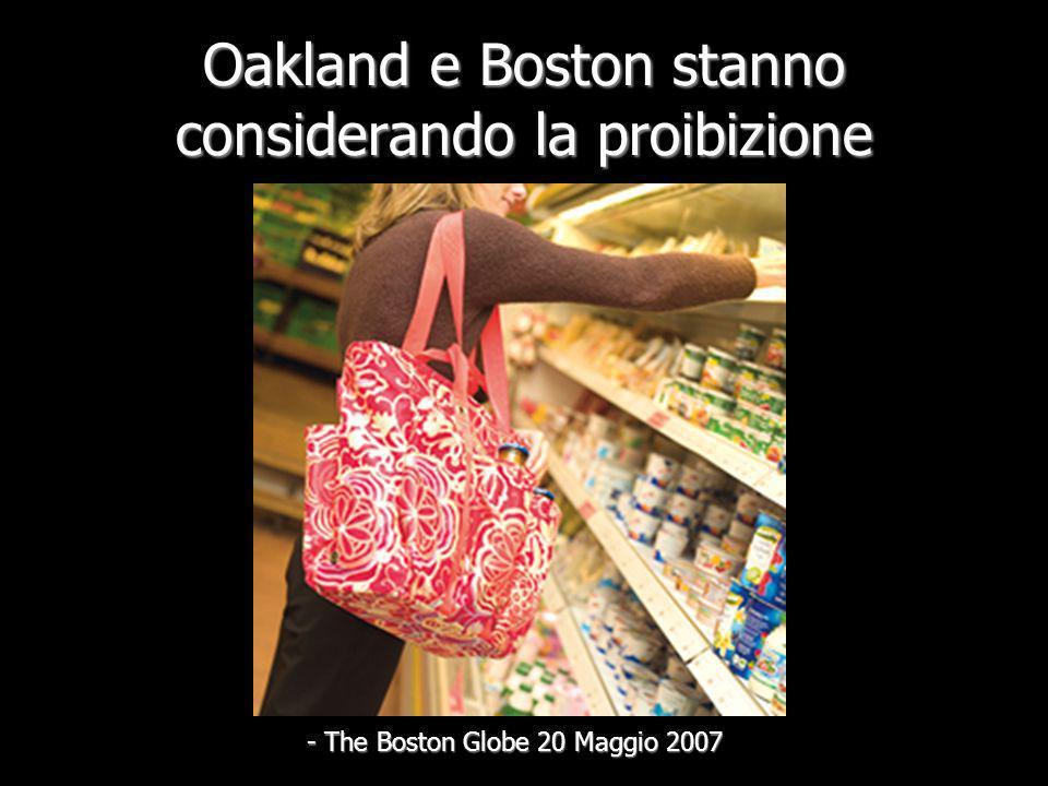 Il 27 Marzo 2007, San Francisco diviene la prima città che proibisce i sacchetti di plastica negli Stati Uniti - NPR.org (National Public Radio)